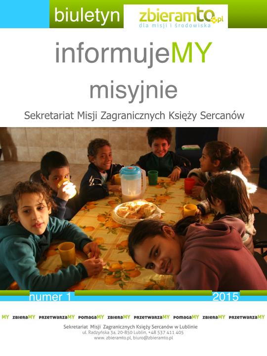 e-biuletyn informujeMY misyjnie nr 1 2015 - okładka